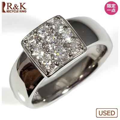 【送料無料】【中古】◎PT900 ダイヤモンドリング 指輪 D0.50 パヴェ おしゃれ レディース 女性 かわいい 可愛い オシャレ 価格見直し0711