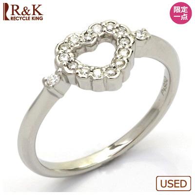 【送料無料】【中古】◎PT950 ダイヤモンドリング 指輪 ダイヤ ハート プラチナ おしゃれ レディース 女性 かわいい 可愛い オシャレ 価格見直し3005