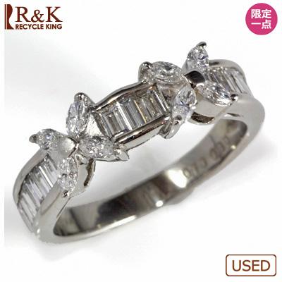 【送料無料】【中古】●PT900 ダイヤモンドリング 指輪 D1.00 おしゃれ レディース 女性 かわいい 可愛い オシャレ 価格見直し0711