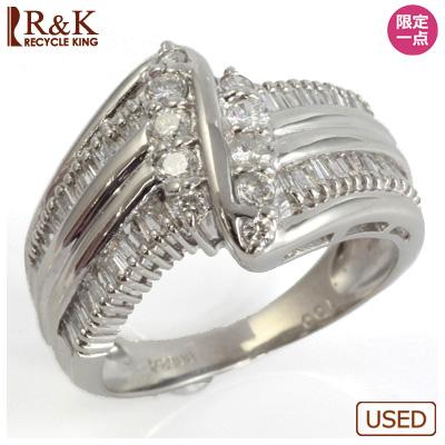 【送料無料】【中古】●PT900 ダイヤモンドリング D1.00 レディース 女性可愛い カワイイ かわいい おしゃれ オシャレ 価格見直し0711