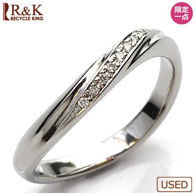 【送料無料】【中古】◎PT900 ダイヤモンドリング 指輪 D0.037 プラチナ おしゃれ レディース 女性 かわいい 可愛い オシャレ 価格見直し3005
