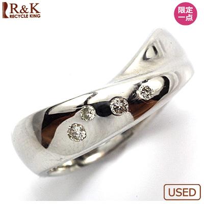 【送料無料】【中古】◎PT900 ダイヤピンキーリング 指輪 D0.06 プラチナ ファランジリング おしゃれ レディース 女性 かわいい 可愛い オシャレ 価格見直し3005