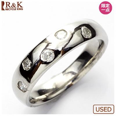 【送料無料】【中古】◎PT900 ダイヤピンキーリング 指輪 D0.14 プラチナ ファランジリング おしゃれ レディース 女性 かわいい 可愛い オシャレ 価格見直し3005