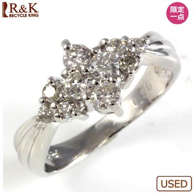 【送料無料】【中古】◎PT900 ダイヤピンキーリング 指輪 D0.50 ファランジリング おしゃれ レディース 女性 かわいい 可愛い オシャレ 価格見直し3005