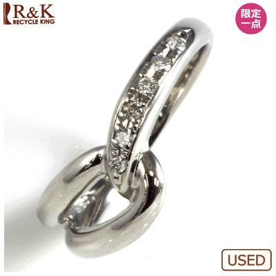 【送料無料】【中古】○PT900 ダイヤピンキーリング 指輪 ファランジリング おしゃれ レディース 女性 かわいい 可愛い オシャレ 価格見直し3005