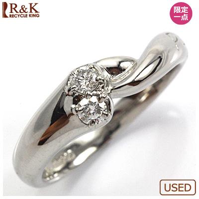 【送料無料】【中古】◎PT900 ダイヤピンキーリング 指輪 プラチナ ファランジリング おしゃれ レディース 女性 かわいい 可愛い オシャレ 価格見直し0711