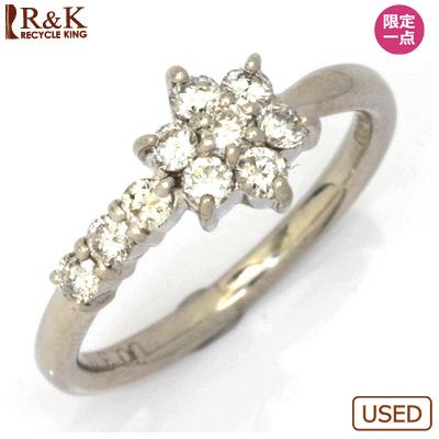 【送料無料】【中古】◎PT900 ダイヤモンドピンキーリング 指輪 D0.30 フラワー プラチナ ファランジリング おしゃれ レディース 女性 かわいい 可愛い オシャレ 価格見直し0711