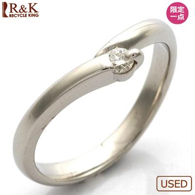 【送料無料】【中古】◎PT900 ダイヤモンドピンキーリング 指輪 D0.05 プラチナおしゃれ レディース 女性 かわいい 可愛い オシャレ 価格見直し3005