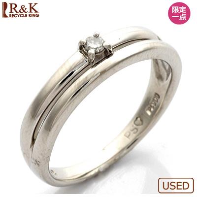 【送料無料】【中古】◎PT900 ダイヤモンドピンキーリング 指輪 D0.03 プラチナおしゃれ レディース 女性 かわいい 可愛い オシャレ 価格見直し3005