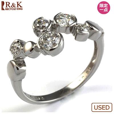 【送料無料】【中古】◎K18WG ダイヤモンドリング 指輪 D0.60 おしゃれ レディース 女性 かわいい 可愛い オシャレ 価格見直し0711