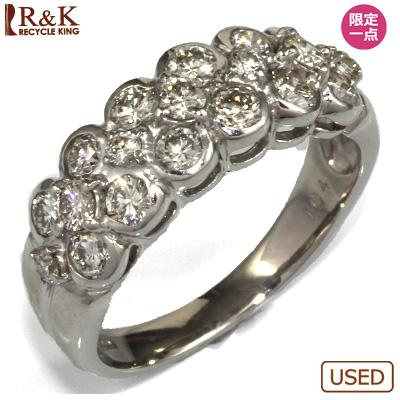 【送料無料】【中古】◎PT900 ダイヤモンドリング 指輪 D1.04 フラワー おしゃれ レディース 女性 かわいい 可愛い オシャレ 価格見直し3005