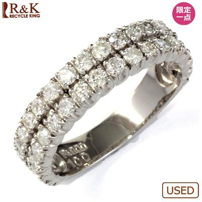 【送料無料】【中古】◎PT900 ダイヤモンドリング 指輪 D1.00 エタニティ パヴェ おしゃれ レディース 女性 かわいい 可愛い オシャレ 価格見直し0711