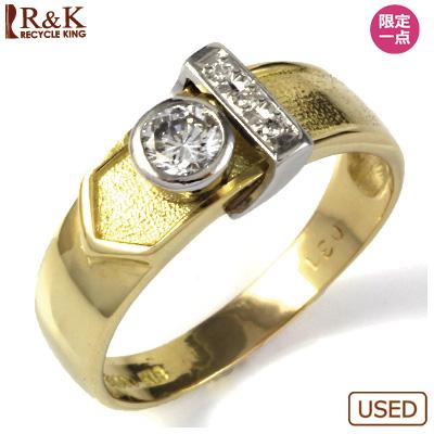 【送料無料】【中古】◎K18/PT900 ダイヤモンドリング 指輪 D0.31 おしゃれ レディース 女性 かわいい 可愛い オシャレ 価格見直し0711