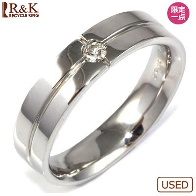 【送料無料】【中古】◎K18WG ダイヤモンドリング 指輪 D0.102おしゃれ レディース 女性 かわいい 可愛い オシャレ 価格見直し0711