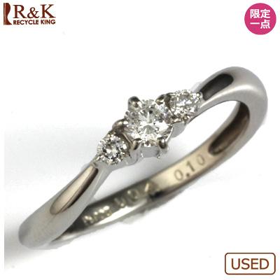 【送料無料】【中古】◎PT900 ダイヤピンキーリング 指輪 D0.14 ファランジリング おしゃれ レディース 女性 かわいい 可愛い オシャレ 価格見直し3005