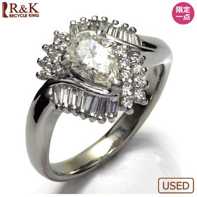 【送料無料】【中古】◎PT900 ダイヤモンドリング 指輪 D0.84/D0.50 プラチナ おしゃれ レディース 女性 かわいい 可愛い オシャレ 価格見直し3005