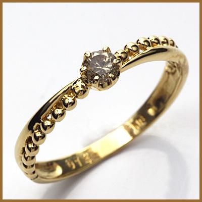 【送料無料】【中古】◎K18 ダイヤモンドリング 指輪 D0.14 18金おしゃれ レディース 女性 かわいい 可愛い オシャレ 価格見直し3005