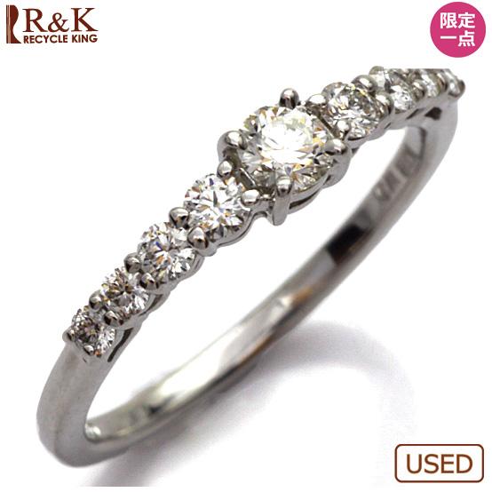 【送料無料】【中古】◎K18WG ダイヤモンドリング 指輪 D0.154/D0.21 18金 おしゃれ レディース 女性 かわいい 可愛い オシャレ 価格見直し3005