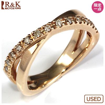 【送料無料】【中古】●K10PG ダイヤモンドリング 指輪 D0.13 ピンクゴールドおしゃれ レディース 女性 かわいい 可愛い オシャレ 価格見直し3005