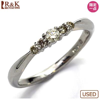【送料無料】【中古】◎K10WG ダイヤモンドピンキーリング 指輪 D0.12 10金ホワイトゴールド ファランジリング おしゃれ レディース 女性 かわいい 可愛い オシャレ 価格見直し3005