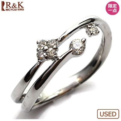 【送料無料】【中古】◎K14WG ダイヤモンドリング 指輪 D0.15 14金ホワイトゴールドおしゃれ レディース 女性 かわいい 可愛い オシャレ 価格見直し3005