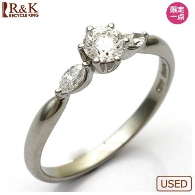 【送料無料】【中古】PT900 ダイヤモンド リング 指輪 D0.28/0.11 プラチナ おしゃれ レディース 女性 かわいい 可愛い オシャレ ダイアモンド ダイヤリング ブライダル 結婚式 お呼ばれ 華奢 宝石 価格見直し0711