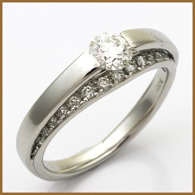 【送料無料】【中古】◎PT900 ダイヤモンドリング 指輪 D0.296/0.13 プラチナ おしゃれ レディース 女性 かわいい 可愛い オシャレ 価格見直し3005