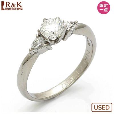 【送料無料】【中古】◎PT950 ダイヤモンドリング 指輪 D0.418/D0.17 プラチナ おしゃれ レディース 女性 かわいい 可愛い オシャレ 価格見直し0711 【SH】