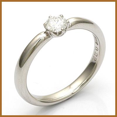 【送料無料】【中古】◎PT900 ダイヤモンドリング 指輪 D0.22 プラチナ おしゃれ レディース 女性 かわいい 可愛い オシャレ 価格見直し3005
