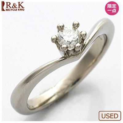 【送料無料】【中古】◎PT900 ダイヤモンドピンキーリング 指輪 D0.1 プラチナ おしゃれ レディース 女性 かわいい 可愛い オシャレ 価格見直し3005