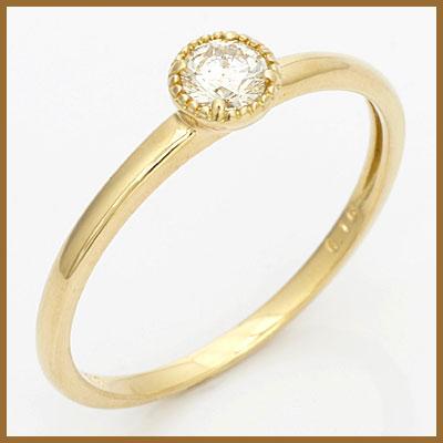 【送料無料】【中古】◎K18 ダイヤモンドリング 指輪 D0.16 18金おしゃれ レディース 女性 かわいい 可愛い オシャレ[pd] 価格見直し3005
