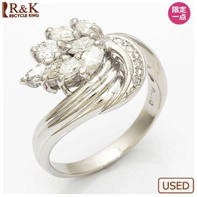 【送料無料】【中古】◎PT900 ダイヤモンドリング 指輪 D0.67 プラチナ おしゃれ レディース 女性 かわいい 可愛い オシャレ 価格見直し0711