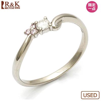 【送料無料】【中古】◎PT900 ダイヤモンドリング 指輪 D0.12 プラチナおしゃれ レディース 女性 かわいい 可愛い オシャレ 価格見直し3005