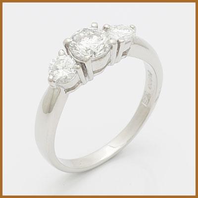 【送料無料】【中古】◎PT900 ダイヤモンドリング 指輪 D0.65/D0.35 プラチナ おしゃれ レディース 女性 かわいい 可愛い オシャレ 価格見直し3005