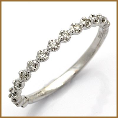 【送料無料】【中古】◎K10WG ダイヤモンドリング 指輪 D0.10 10金ホワイトゴールドおしゃれ レディース 女性 かわいい 可愛い オシャレ 価格見直し3005