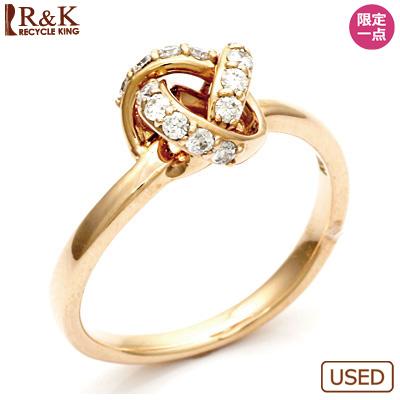 【送料無料】【中古】◎K10PG ダイヤモンドリング 指輪 D0.20 10金ピンクゴールドおしゃれ レディース 女性 かわいい 可愛い オシャレ 価格見直し3005