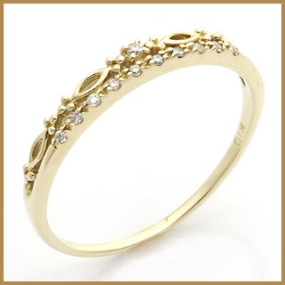 【送料無料】【中古】◎K10 ダイヤモンドリング 指輪 D0.05 10金おしゃれ レディース 女性 かわいい 可愛い オシャレ 価格見直し3005