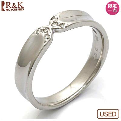 【送料無料】【中古】◎K10WG ダイヤモンドリング 指輪 D0.04 10金ホワイトゴールドおしゃれ レディース 女性 かわいい 可愛い オシャレ 価格見直し3005
