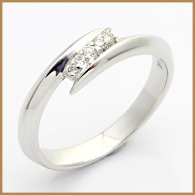 【送料無料】【中古】◎K10WG ダイヤモンドリング 指輪 D0.05 10金おしゃれ レディース 女性 かわいい 可愛い オシャレ 価格見直し3005