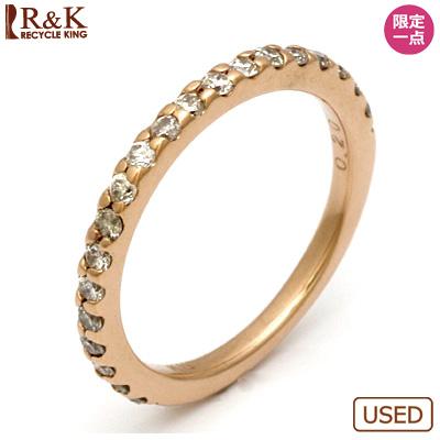 【送料無料】【中古】◎K10PG ダイヤモンドピンキーリング 指輪 D0.20 ハーフエタニティ 10金ピンクゴールド ファランジリング おしゃれ レディース 女性 かわいい 可愛い オシャレ 価格見直し3005