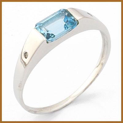 【送料無料】【中古】◎K10WG リング 指輪 ブルートパーズ ダイヤモンド 10金ホワイトゴールドおしゃれ レディース 女性 かわいい 可愛い オシャレ 価格見直し3005