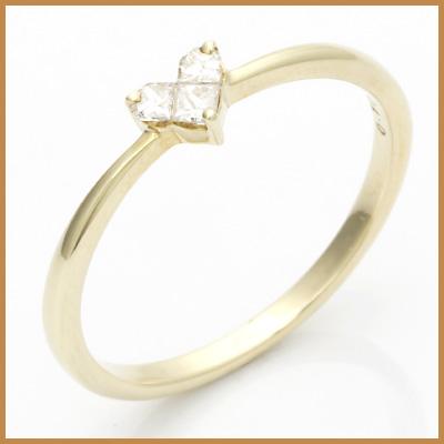 【送料無料】【中古】◎K10 ダイヤモンドリング 指輪 D0.10 ハート 10金おしゃれ レディース 女性 かわいい 可愛い オシャレ 価格見直し3005