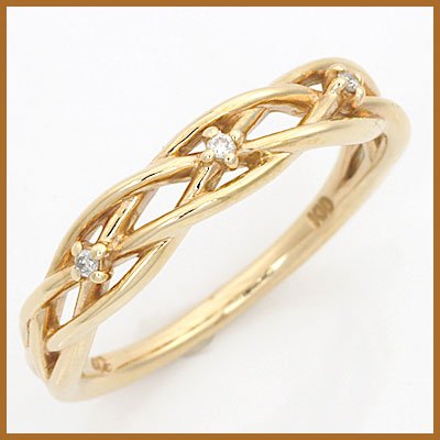 【送料無料】【中古】◎K10 リング 指輪 ダイヤモンド 10金おしゃれ レディース 女性 かわいい 可愛い オシャレ 価格見直し3005