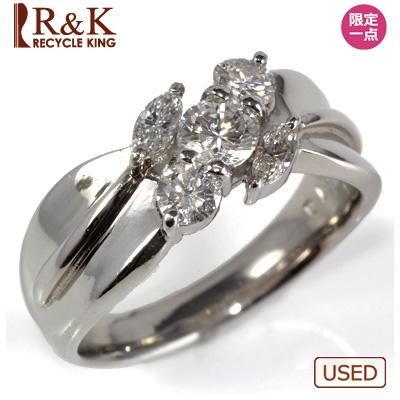 【送料無料】【中古】●PT900 ダイヤモンドリング D0.70 レディース 女性 可愛い カワイイ かわいい おしゃれ オシャレ 価格見直し0711
