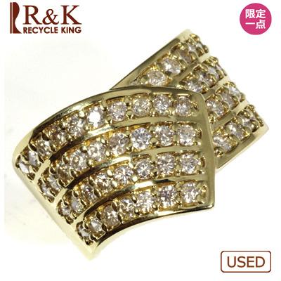 【送料無料】【中古】●K18 ダイヤモンドリング D1.11 18金レディース 女性 可愛い カワイイ かわいい おしゃれ オシャレ 価格見直し3005