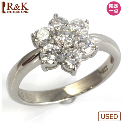 【送料無料】【中古】●PT900 ダイヤモンドリング 指輪 D1.00 おしゃれ レディース 女性 かわいい 可愛い オシャレ 価格見直し3005
