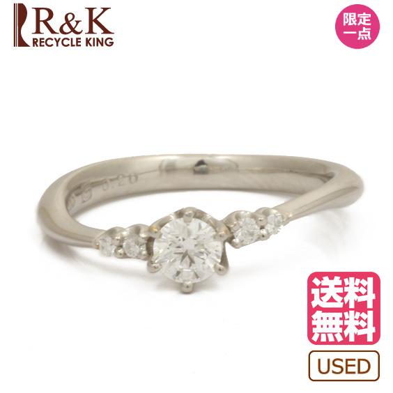 【送料無料】【中古】DISNEY リング 指輪 PT900 ダイヤモンド D0.20 7号 プラチナ ディズニー レディース メンズ おしゃれ かわいい ギフト プレゼント 価格見直し0711 【SH】
