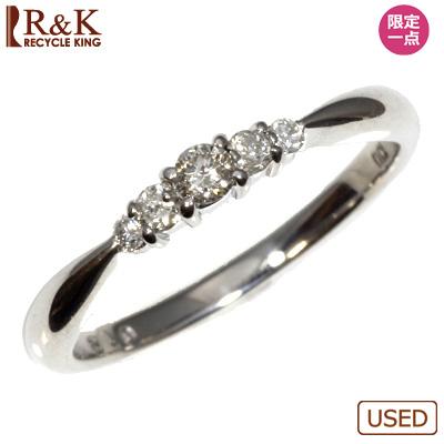 【送料無料】【中古】◎K10WG ダイヤ ピンキーリング 指輪 D0.12 ファランジリング おしゃれ レディース 女性 かわいい 可愛い オシャレ 価格見直し3005