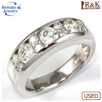 【送料無料】【中古】◎PT900 ダイヤモンドリング 指輪 D1.25 リメイクジュエリー プラチナ〔地金は新品〕 おしゃれ レディース 女性 かわいい 可愛い オシャレ 価格見直し3005