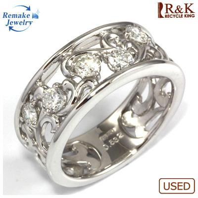 【送料無料】【中古】◎K18WG ダイヤモンドリング 指輪 D0.532 リメイクジュエリー 〔地金は新品〕 おしゃれ レディース 女性 かわいい 可愛い オシャレ 価格見直し3005
